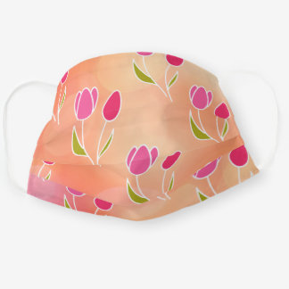Tulip Floral Pattern Cloth Face Mask