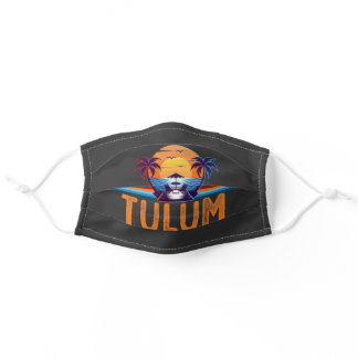 Tulum Mexico Matching Vacation 2021 Adult Cloth Face Mask