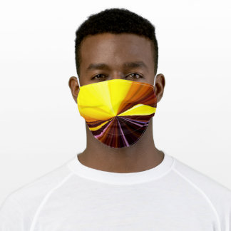 Tunnel of yellow lights adult cloth face mask