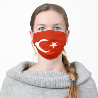 Turkey country flag symbol nation adult cloth face mask