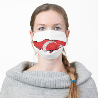 Turkey Flag Map Adult Cloth Face Mask