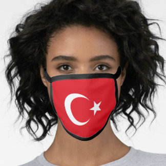 Turkey & Turkish Flag Mask - fashion/sports fans