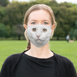 Turkish Angora Cat Adult Cloth Face Mask