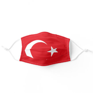 Turkish flag adult cloth face mask
