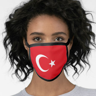 Turkish flag face mask