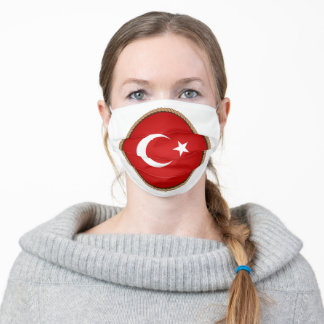 Turkish Flag SEal Adult Cloth Face Mask