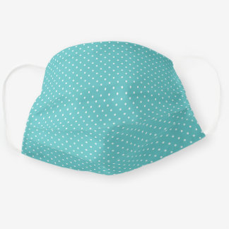 Turquoise and White Tiny Dots Pattern Cloth Face Mask