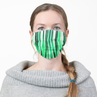 Turquoise Serenity Stripy Pattern Adult Cloth Face Mask