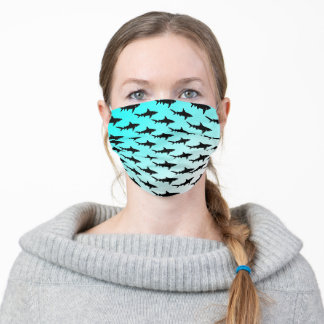 Turquoise Shark Adult Cloth Face Mask