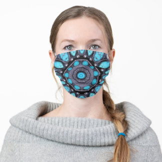 Turquoise & Silver. Adult Cloth Face Mask