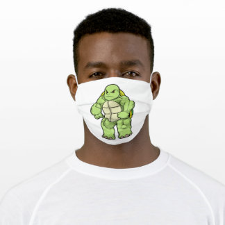 Turtle as Bodybuilder with Six pack Adult Cloth Face Mask