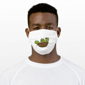 Turtle at Exercise for Abdominla muscles Adult Cloth Face Mask