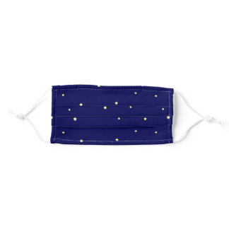 Twinkling Stars in Midnight Sky Adult Cloth Face Mask