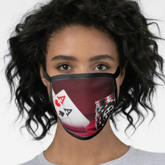 Two Aces Best Poker Design Face Mask
