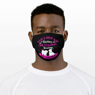 Two Bolonkas Zwetna Funny Gift Idea Adult Cloth Face Mask