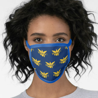 U.S. Virgin Islands Flag Pattern, Navy Blue & Gold Face Mask