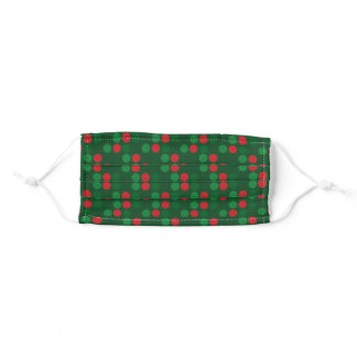 ugly christmas dots adult cloth face mask