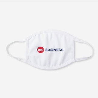 UIC Business  White Cotton Face Mask