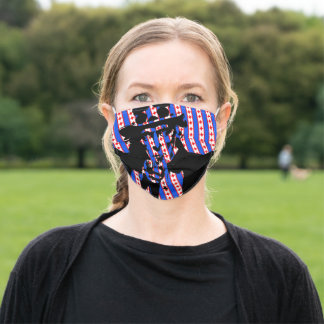 Uncle Sam Patriotic Adult Cloth Face Mask