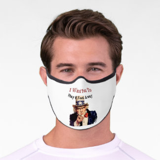 Uncle Sam Says Stay 6 Feet Away Premium Face Mask
