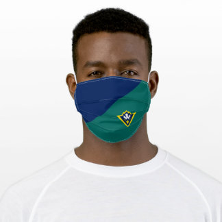 UNCW Seahawk Logo Colorblock Adult Cloth Face Mask