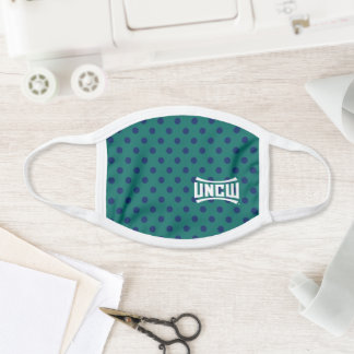 UNCW Wordmark Polka Dots Face Mask