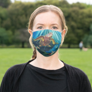 Under the Sea Turtle face mask