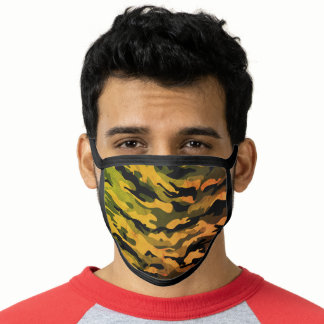 Undercover Camo Camouflage Aged Green & Yellow Face Mask