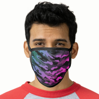 Undercover Camo Camouflage Blue, Purple & Pink Face Mask