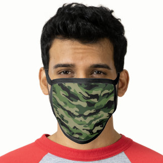 Undercover Camo Camouflage Khaki Green Face Mask