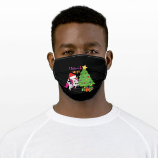 Unicorn Christmas Adult Cloth Face Mask