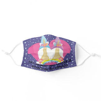 unicorn trolls (because we need a reason to smile) adult cloth face mask