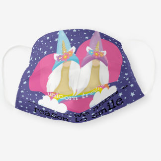unicorn trolls (because we need a reason to smile) cloth face mask