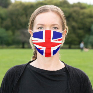 Union Jack flag Adult Cloth Face Mask