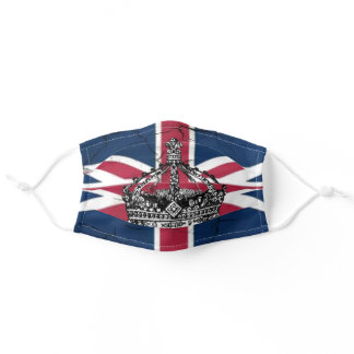 Union Jack Flag Queen of England Diamond Jubilee Adult Cloth Face Mask