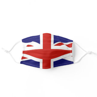 Union Jack Great Britain Flag Protective Adult Cloth Face Mask