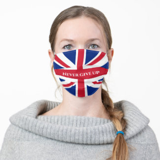 Union Jack Your Text Adult Cloth Face Mask