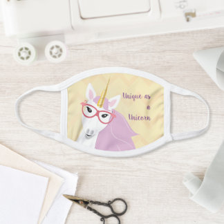 Unique as a Unicorn Pink Flamingo Sunglasses Face Mask