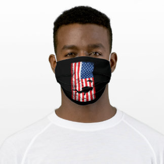 United States Diver 4th of July Diving Adult Cloth Face Mask