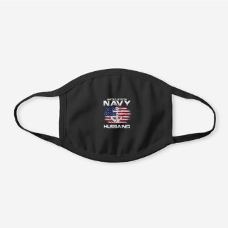 United States Navy Husband With America Black Cotton Face Mask