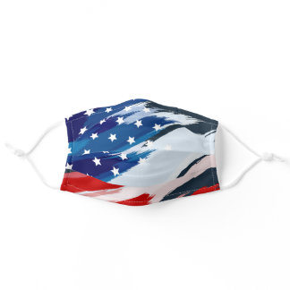 United States of America USA American Flag Adult Cloth Face Mask
