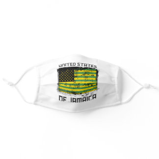 United States Of Jamaica American Jamaican Flag Adult Cloth Face Mask