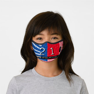 United We Stand Personalized Sporty American Flag Premium Face Mask
