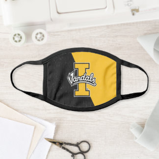 University of Idaho Color Block Distressed Face Mask