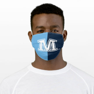 University of Maine Logo Color Block Adult Cloth Face Mask