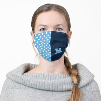 University of Maine Logo Polka Dots Adult Cloth Face Mask