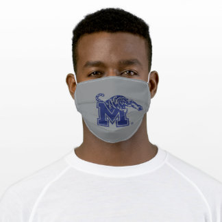 University of Memphis Leaping Tiger Logo Adult Cloth Face Mask