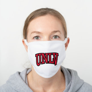 UNLV Logo White Cotton Face Mask