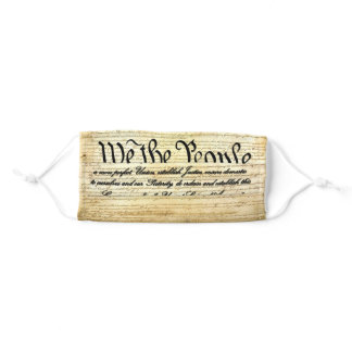 US Constitution We the People Adult Cloth Face Mask