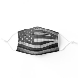 US Flag American Flag Black and White Stripes Star Adult Cloth Face Mask